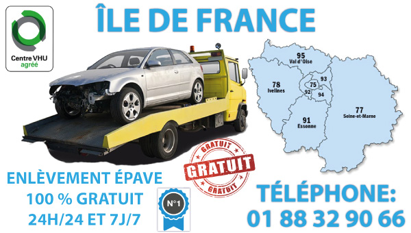 epaviste paris - enlevement epave gratuit paris